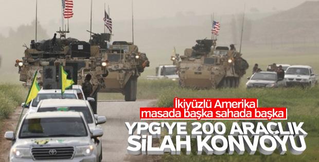 ABD'den YPG'ye 200 araçlık konvoy