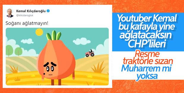 Kemal Kılıçdaroğlu'ndan soğan animasyonu