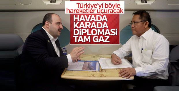 Bakan Varank'ın yoğun diplomasi trafiği