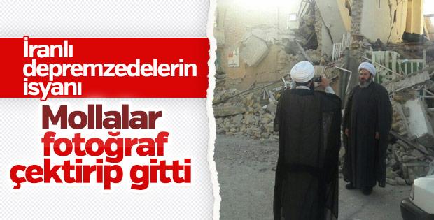 İran'da depremzedelerin büyük tepkisi
