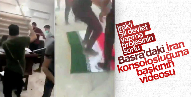 Basra'da İran Başkonsolosluğu basıldı