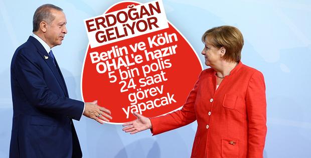 Almanya Başkan Erdoğan'a hazırlanıyor