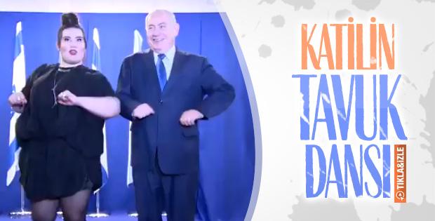 Netanyahu Gazze katliamının üstüne tavuk dansı yaptı