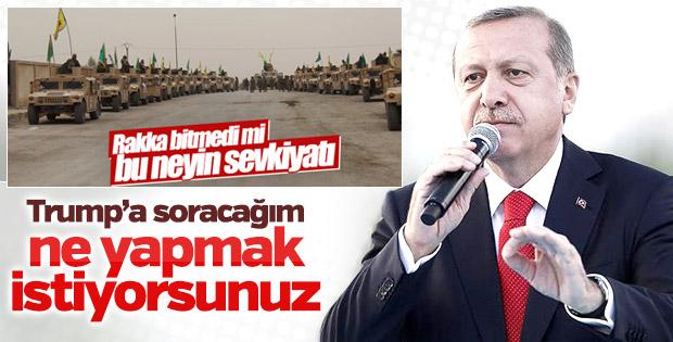 Erdoğan PKK/PYD'ye desteği Trump'a soracak
