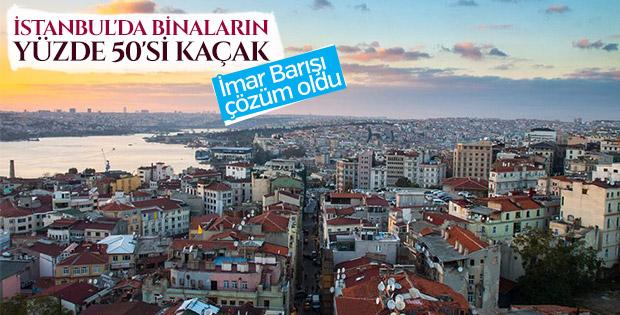 İstanbul'daki yapıların yarısı kaçak