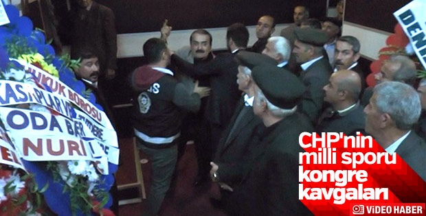 CHP Adıyaman İl Kongresi'nde yumruklu kavga