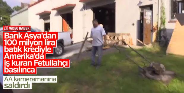 FETÖ'cü iş adamı basılınca AA kameramanına saldırdı