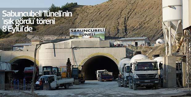 Sabuncubeli Tüneli'nin 'ışık gördü' töreni 8 Eylül'de