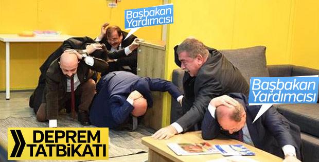 Başbakan Yardımcıları deprem tatbikatında