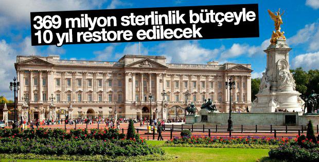 Buckingham Sarayı 10 yıl boyunca restore edilecek