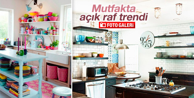 Mutfakta açık raf trendi