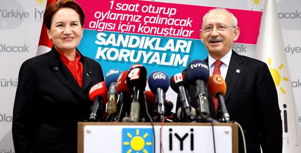 Akşener ve Kılıçdaroğlu kararı: Sandık başı dayanışması