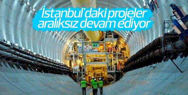İstanbul'daki projeler tüm hızıyla sürüyor