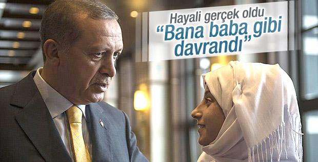 Suriyeli genç kızın Erdoğan hayali gerçek oldu