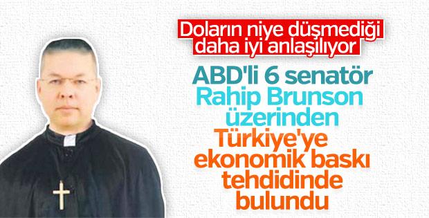 ABD'li senatörlerden Türkiye'ye 'Brunson' tehdidi