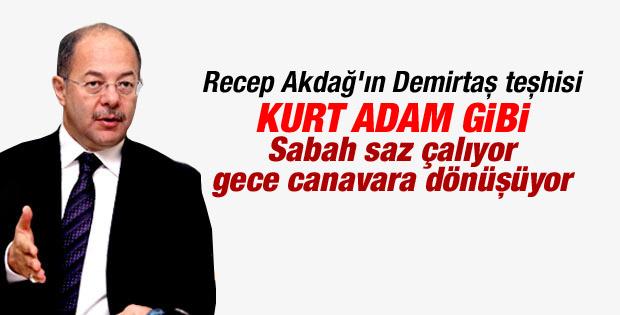Recep Akdağ'dan Demirtaş'a kurt adam benzetmesi