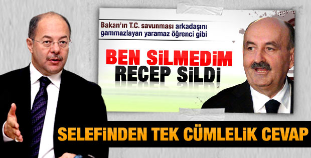 Recep Akdağ'dan Müezzinoğlu'na tek cümlelik cevap