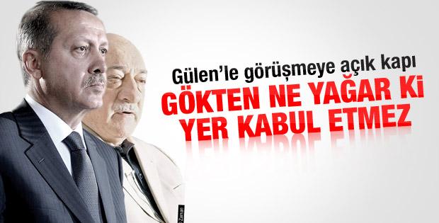 Erdoğan'dan Gülen'le görüşmeye açık kapı