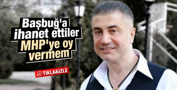 Sedat Peker MHP'ye oy vermeyeceğini açıkladı