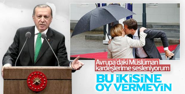 Cumhurbaşkanı Erdoğan'dan Avrupa'daki Müslümanlara çağrı