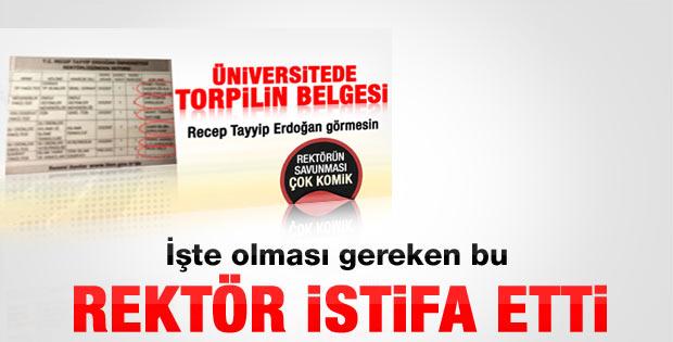 Recep Tayyip Erdoğan Üniversitesi Rektörü istifa etti