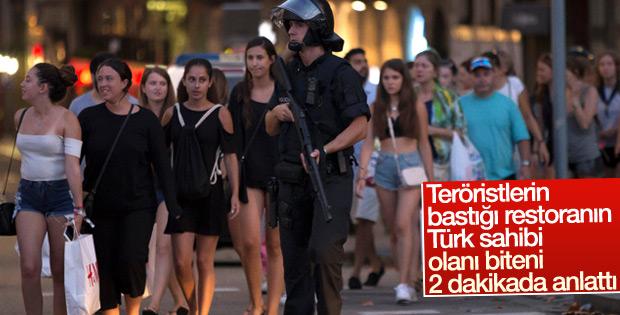 Teröristlerin bastığı Türk restoranın sahibi konuştu