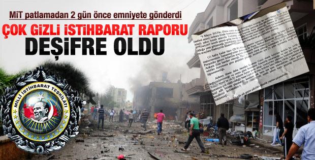 Reyhanlı'daki istihbarat raporu ortaya çıktı