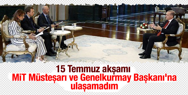 Cumhurbaşkanı Erdoğan Reuters'a konuştu