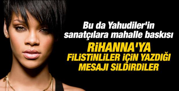 Rihanna'nın Filistin tweetine mahalle baskısı