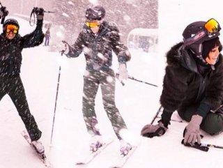 Rihanna'nın kayak keyfi