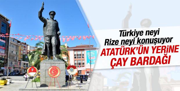 Rize'de Atatürk heykeli kaldırılıyor tartışması