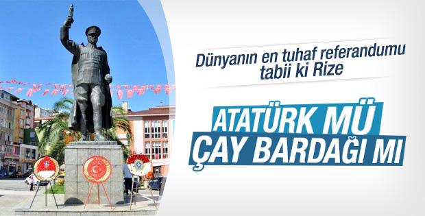 Rize'deki Atatürk heykeli için referandum yapılacak