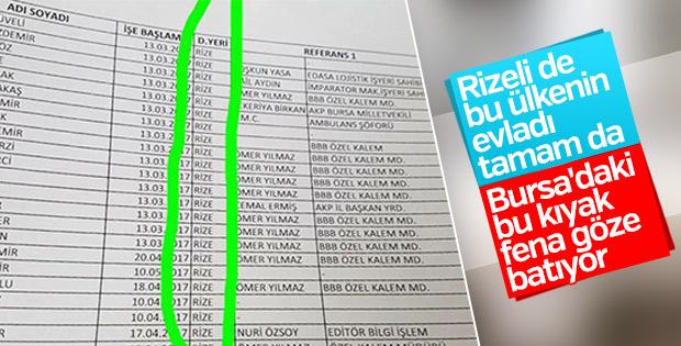 Bursa'da Rizelilere pozitif ayrımcılık