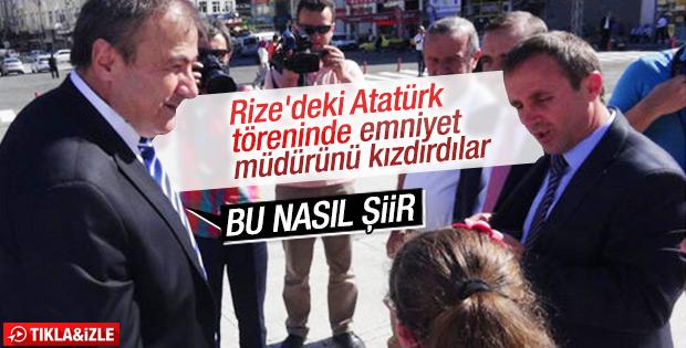 Atatürk için düzenlenen törende tepki çeken şiir