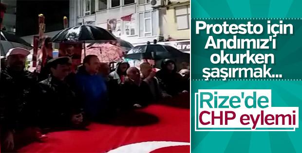 Rize'de Andımız eylemi