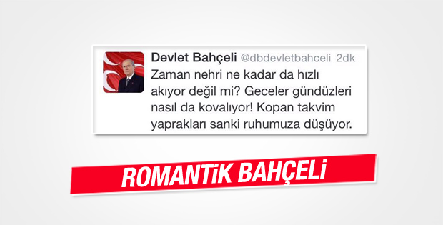 Devlet Bahçeli'den romantik tweetler