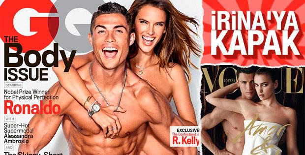 Ronaldo Alessandra Ambrosio ile poz verdi