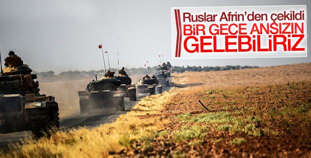 Rus askerleri Afrin'den çekildi