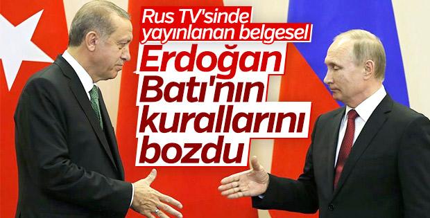 Rus televizyonunda yayınlanan Erdoğan belgeseli
