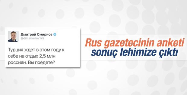 Rus gazetecinin Türkiye anketi