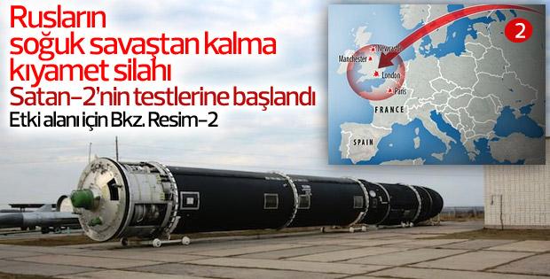 Rusya termo-nükleer füzesi Satan 2'yi test ediyor