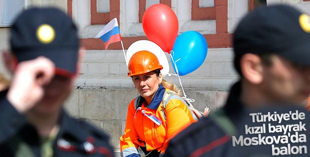 Rusya'da 1 Mayıs kutlamaları başladı