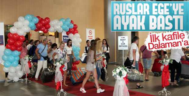 Dalaman'da Rus turistlere özel karşılama
