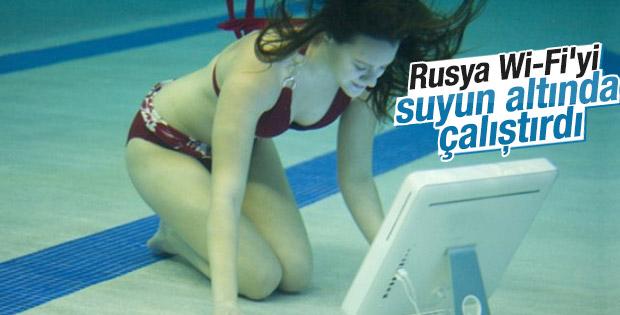 Rusya'da Wi-Fi suyun altında çalıştırıldı