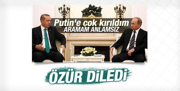 Rusya Türkiye'den özür diledi