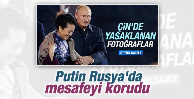 Putin Çin'in First Lady'si ile Rusya'da mesafeyi korudu