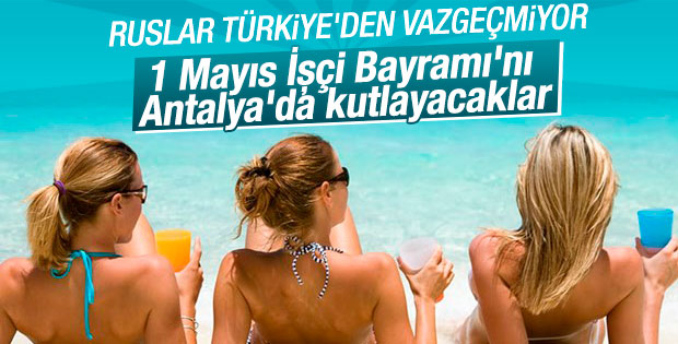 Rus turistlerin tatil için gözde ülkesi Türkiye
