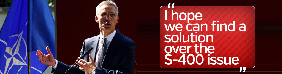 Stoltenberg: I hope we can find a solution over the S-400 issue