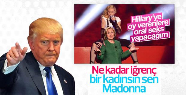 Trump'tan Madonna'ya cevap