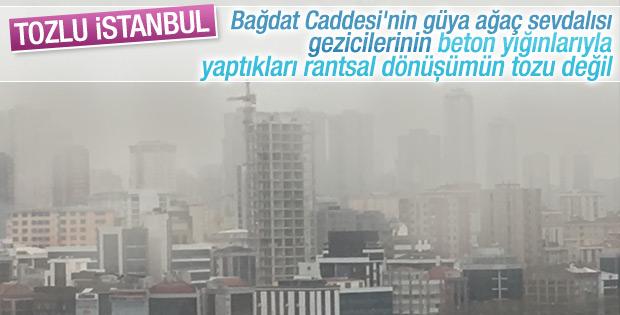 İstanbul toz bulutu altında